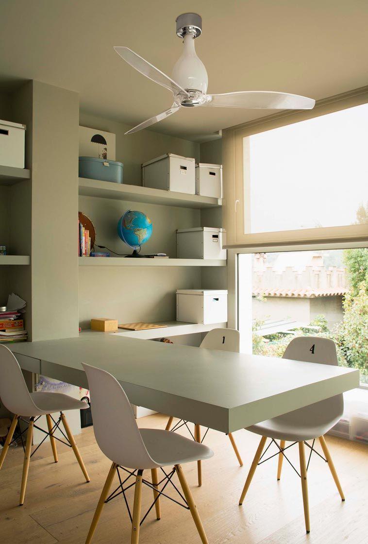 Ventilador de techo blanco brillo MINI ETERFAN ambiente