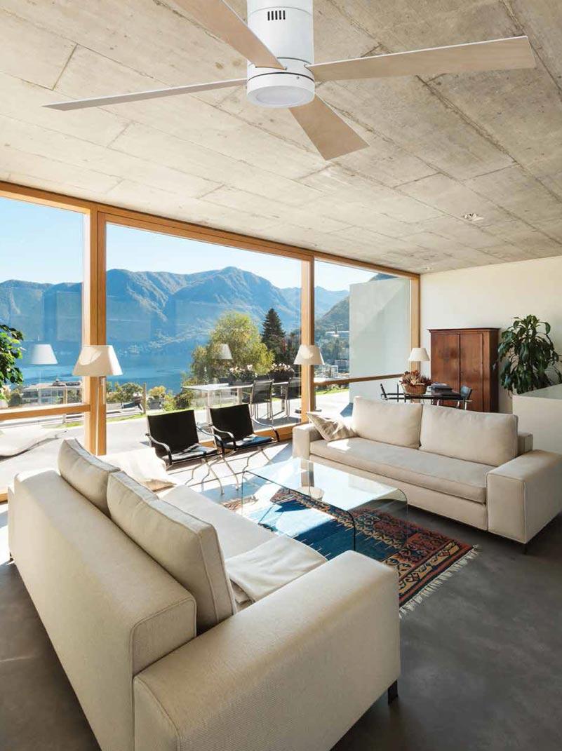 Ventilador de techo blanco TIMOR ambiente