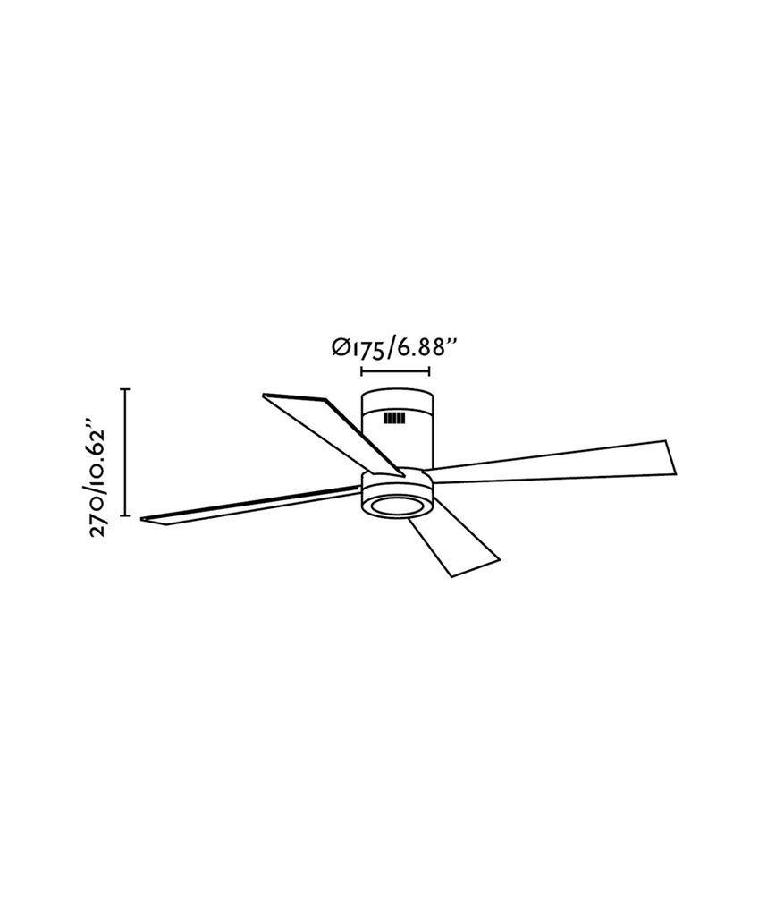 Ventilador de techo blanco TIMOR medidas
