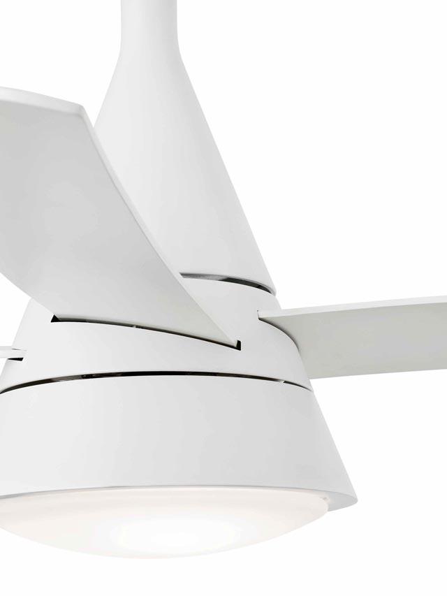 Ventilador de techo blanco WIND detalle