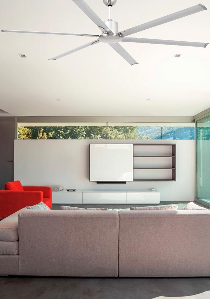 Ventilador de techo gris ANDROS ambiente