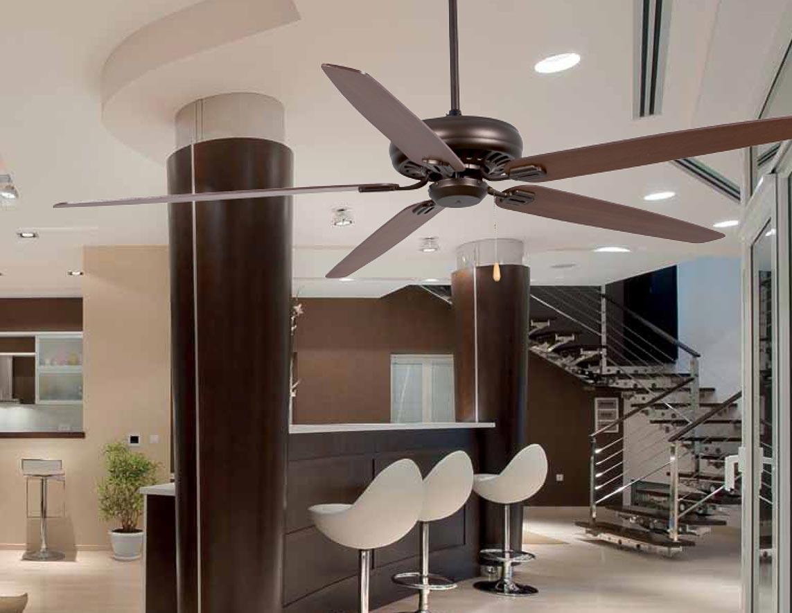 Ventilador de techo marrón NISOS ambiente 2