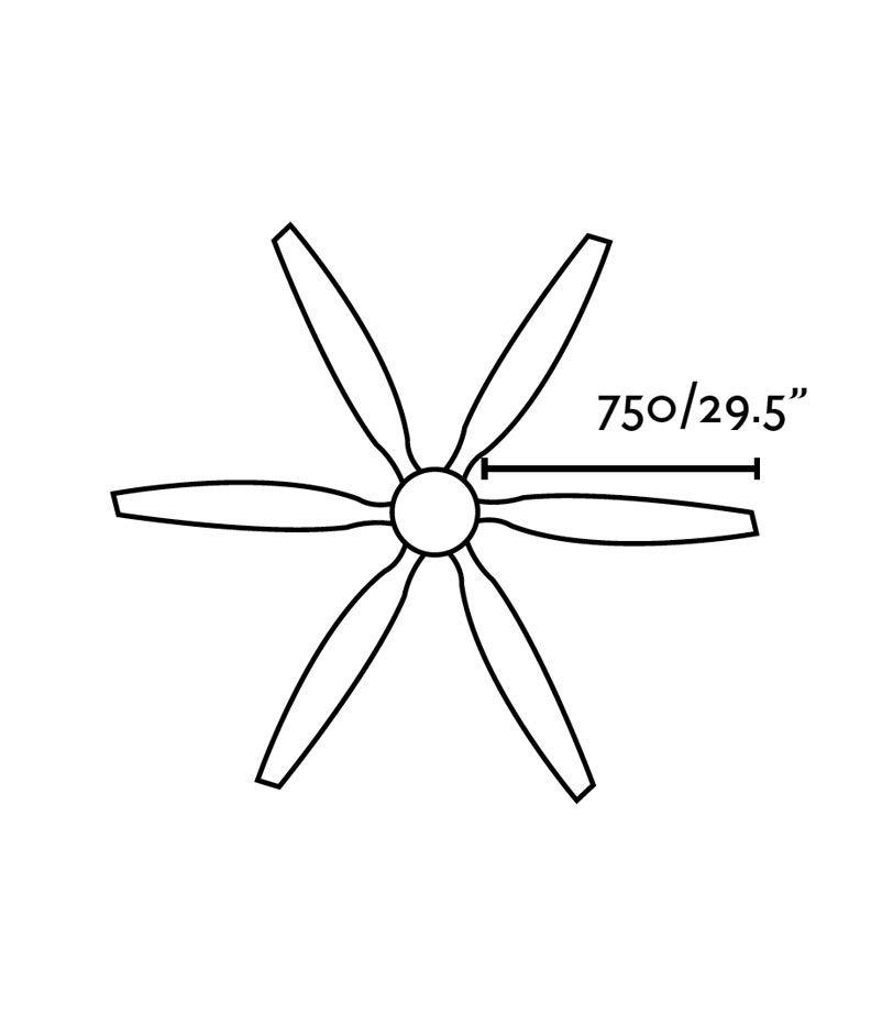 Ventilador de techo marrón TILOS medidas 2