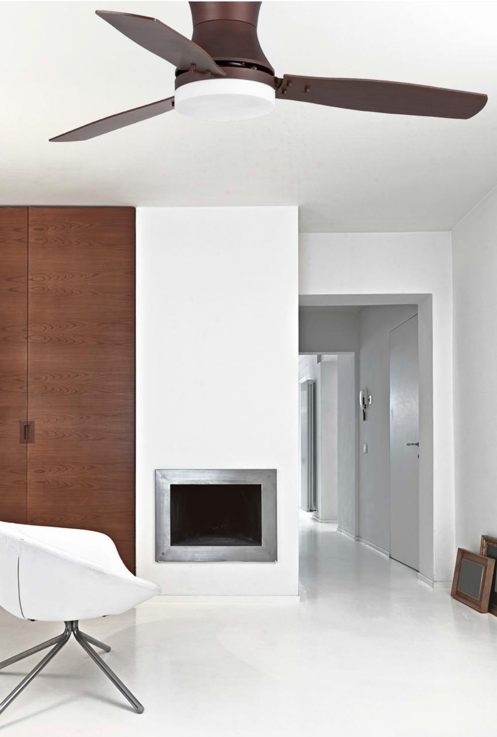 Ventilador de techo marrón TONSAY ambiente