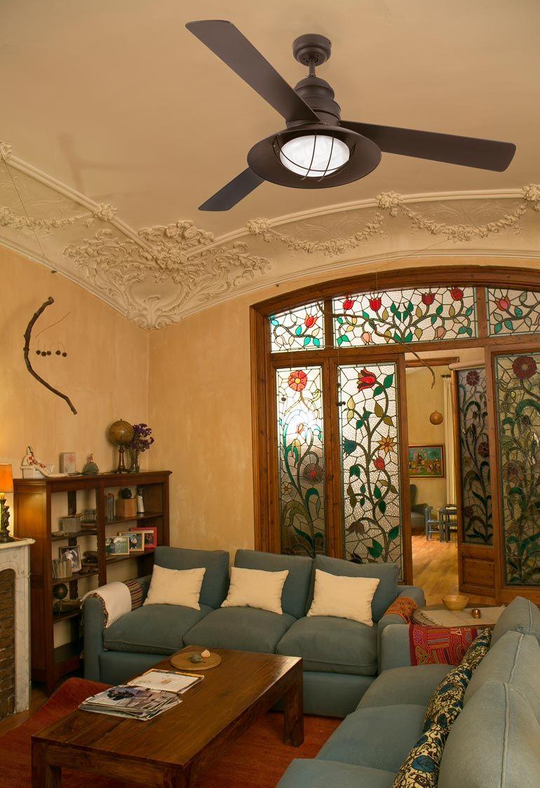 Ventilador de techo marrón WINCH ambiente