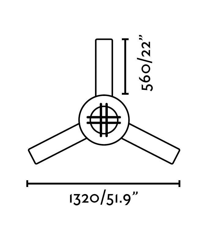 Ventilador de techo marrón WINCH medidas 2