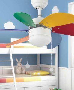 Ventilador de techo multicolor PALAO ambiente