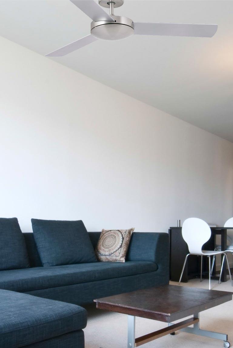 Ventilador de techo níquel MINI MALLORCA ambiente