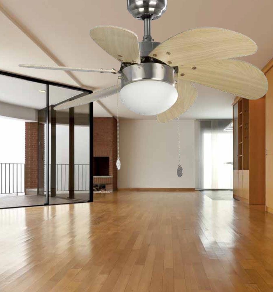 Ventilador de techo níquel PALAO ambiente