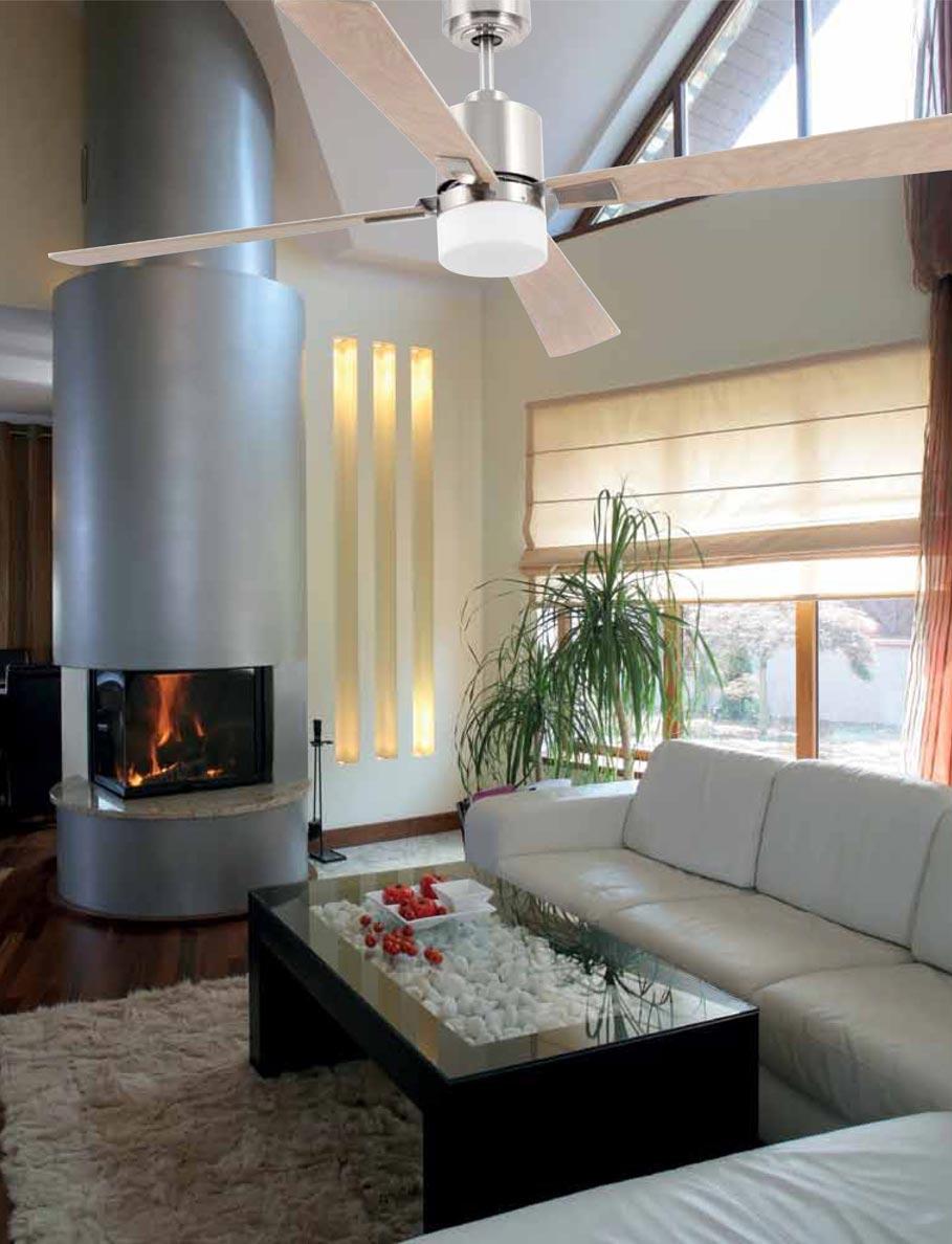 Ventilador de techo níquel PALK ambiente