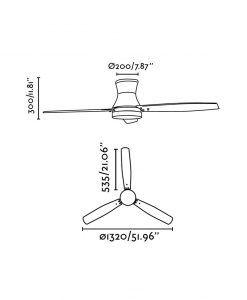 Ventilador de techo níquel TONSAY medidas