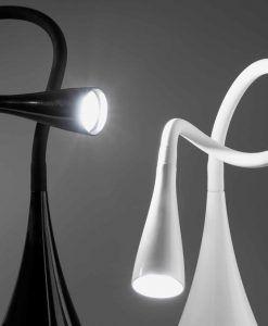 Flexo blanco LENA LED detalle