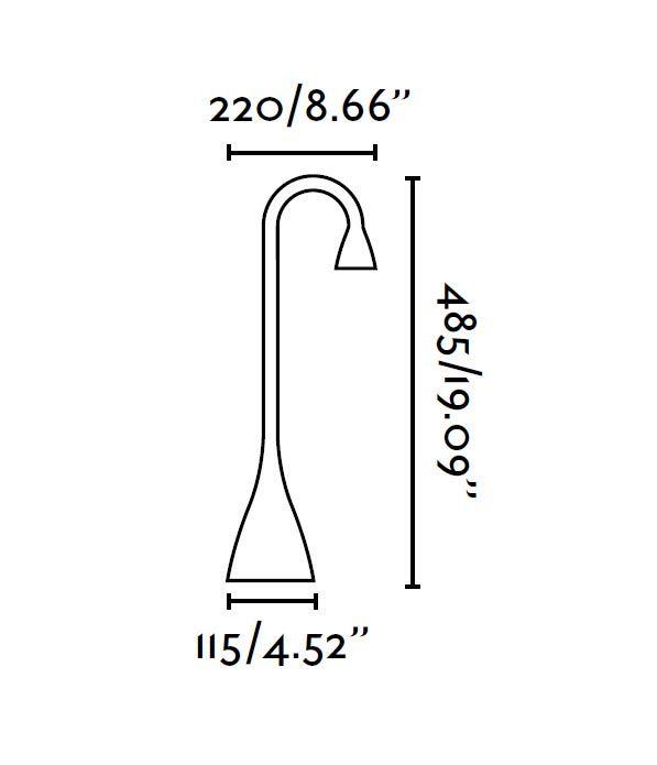 Flexo negro LENA LED medidas