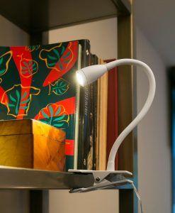 Flexo pinza LED blanco LOKE ambiente