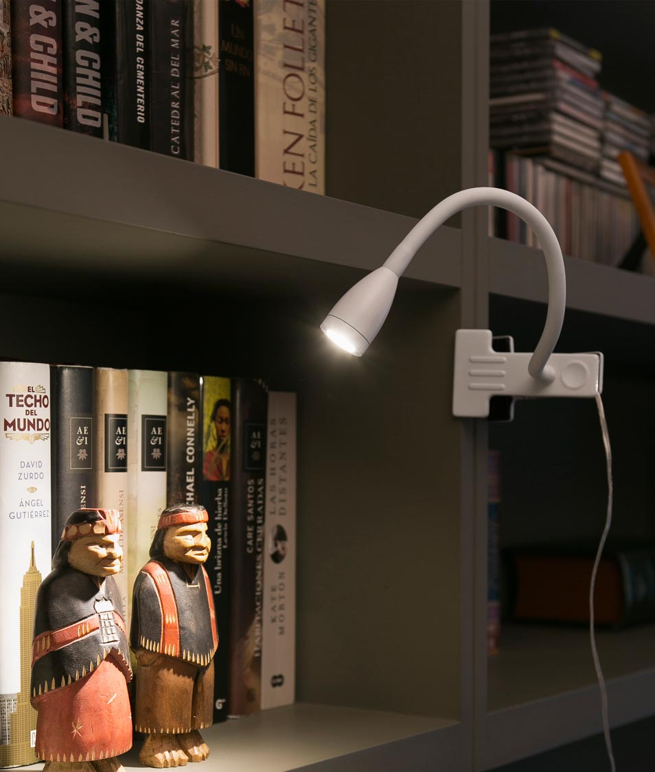 Flexo pinza LED blanco LOKE ambiente 2