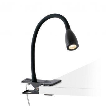 Flexo pinza LED negro LOKE