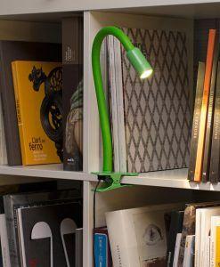 Flexo pinza verde NUKA LED ambiente