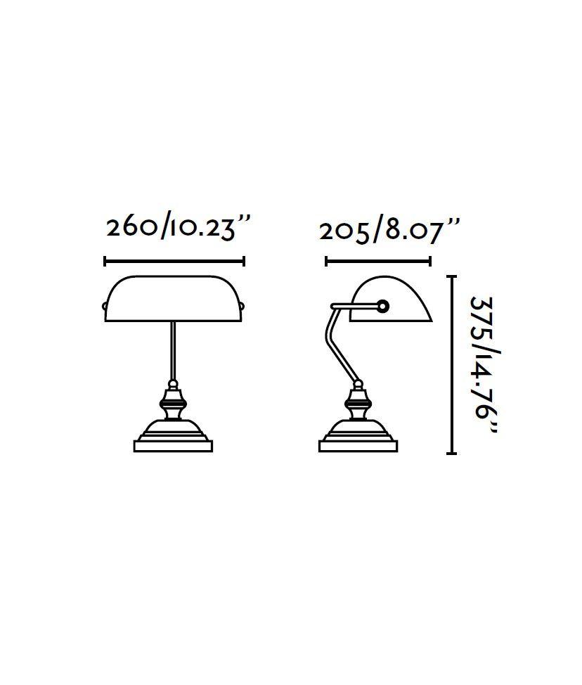 Lámpara sobremesa bronce BANKER medidas