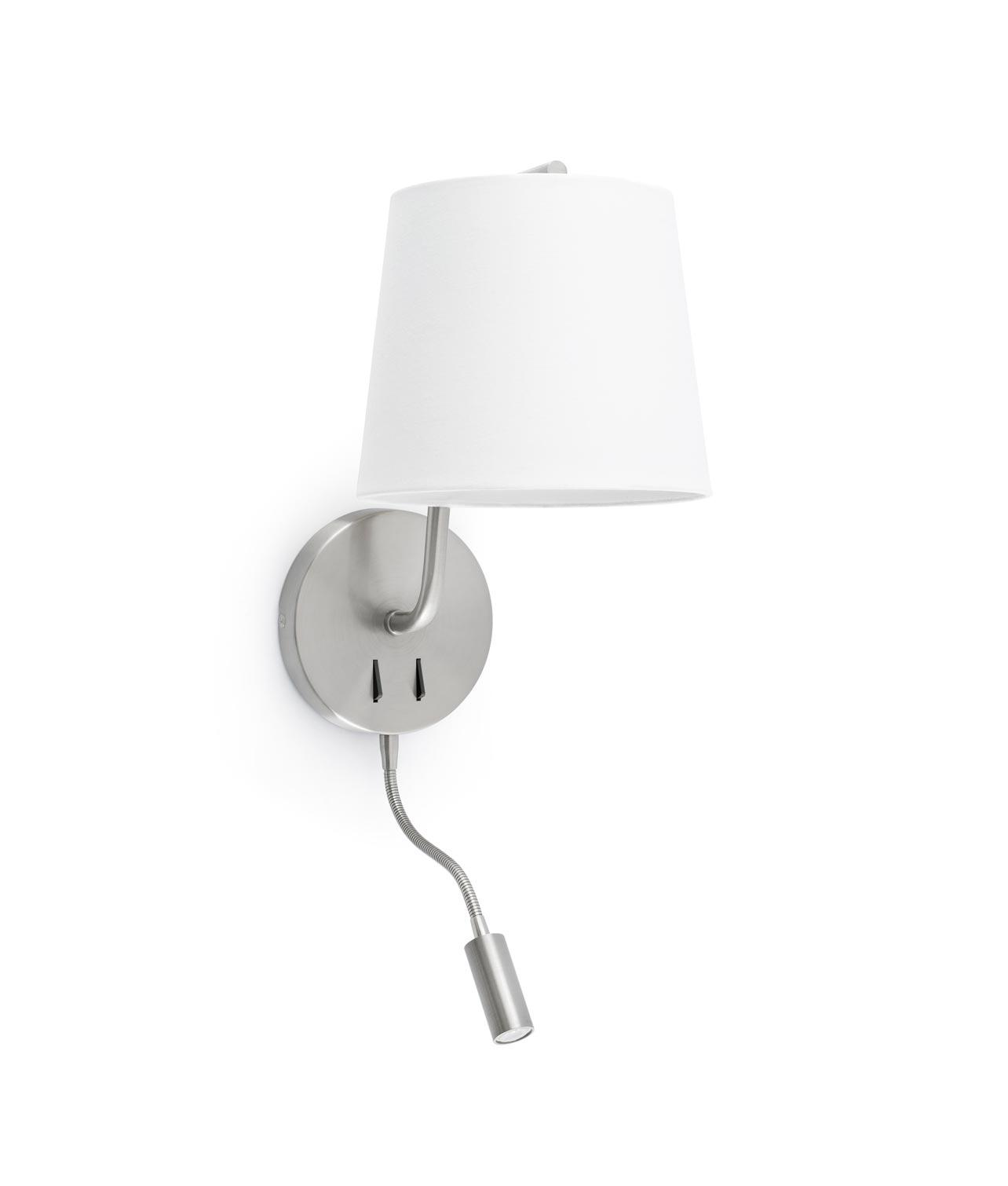 Aplique con lector LED níquel BERNI
