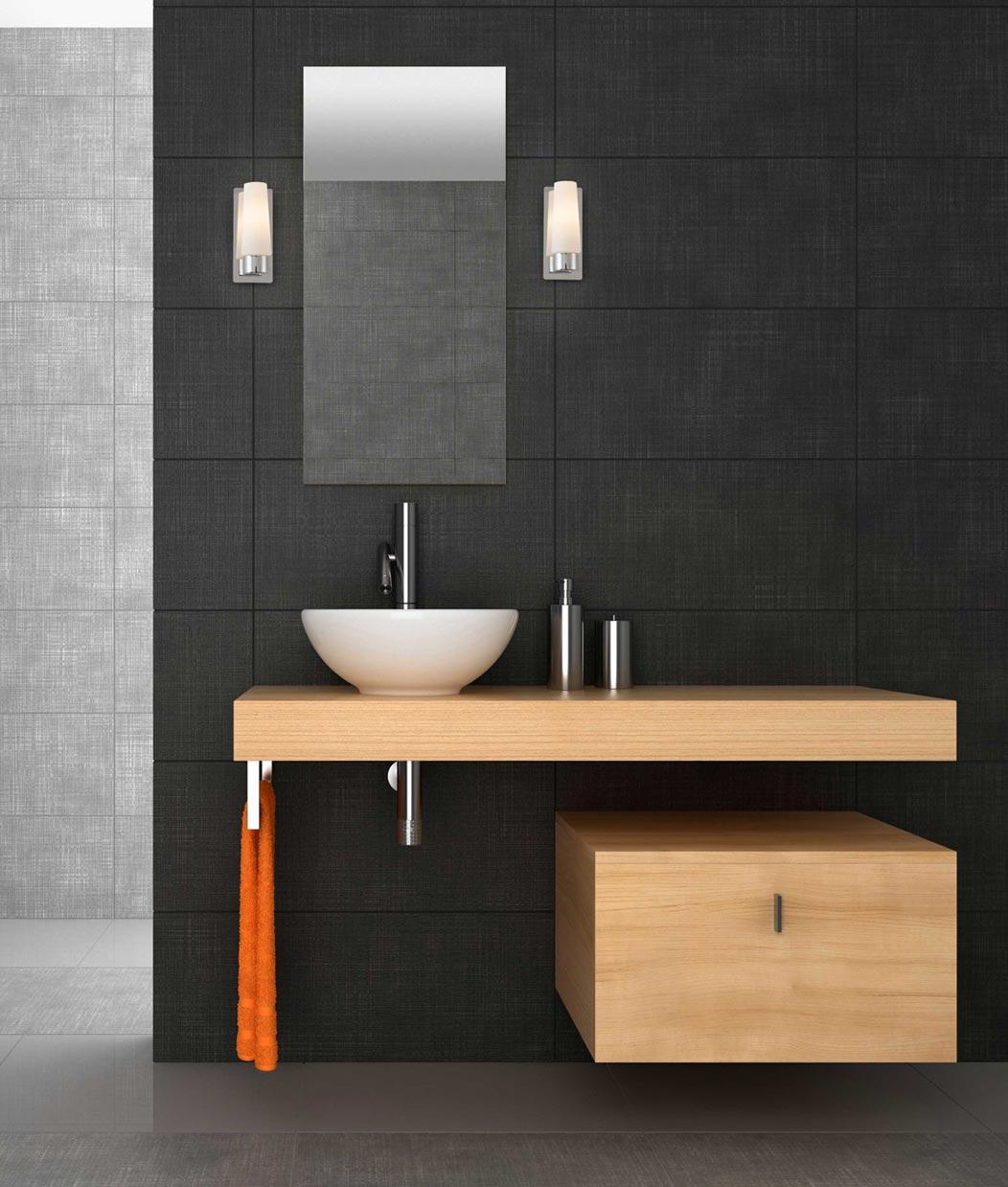 Aplique de ba o 1 luz doka cromo la casa de la l mpara - Aplique pared bano ...