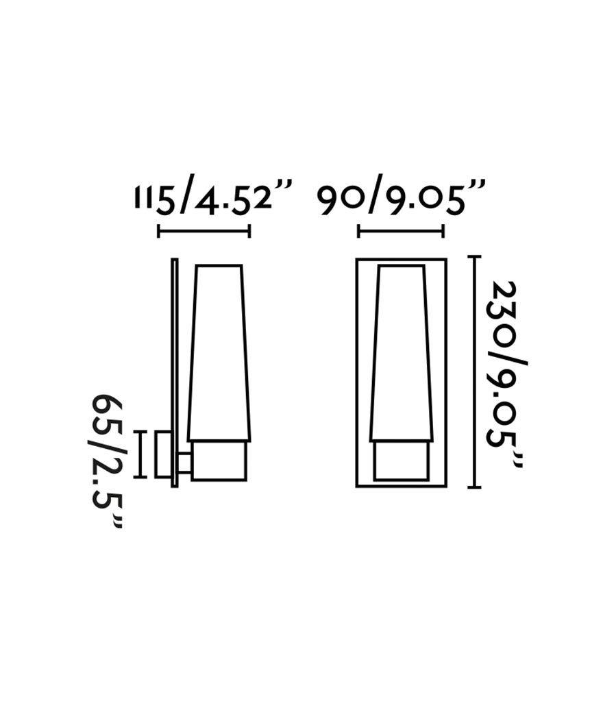 Aplique de baño 1 luz DOKA cromo medidas