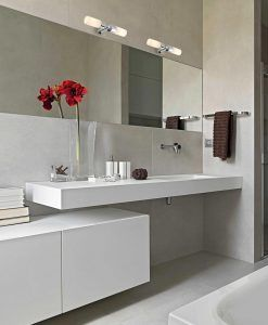 Aplique de baño 2 luces LAOS cromo ambiente