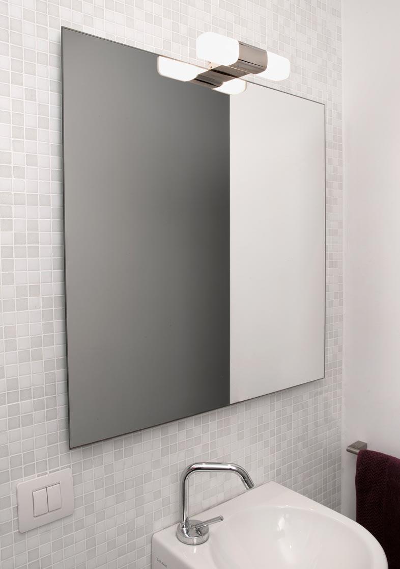 Aplique de baño IKON cromo ambiente