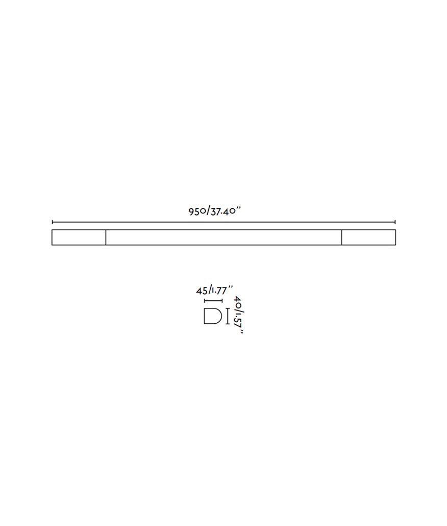 Aplique de baño LED INDO cromo medidas