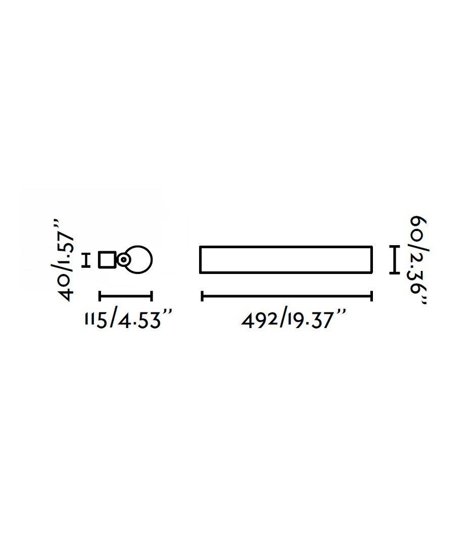 Aplique LED 2 luces SIRET cromo medidas