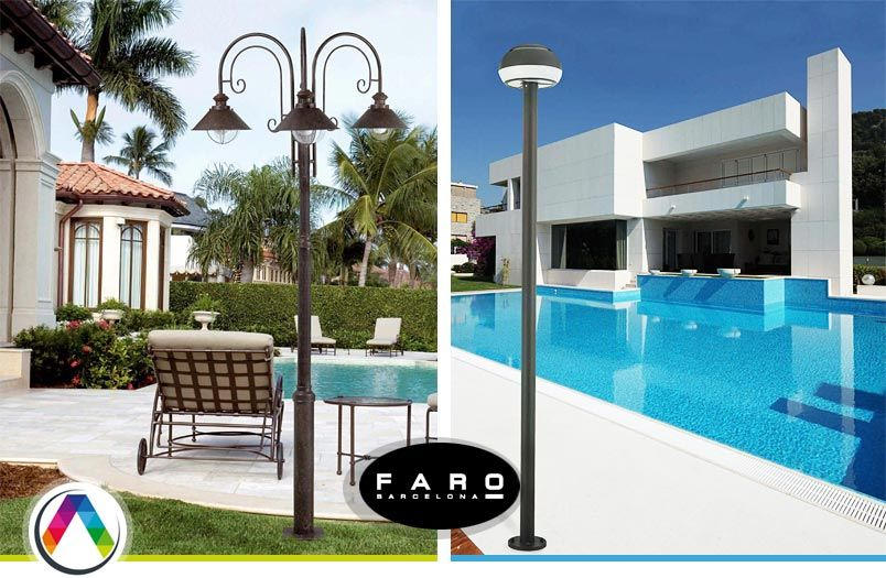Faroles de exterior farolas led for Farolas led para exteriores