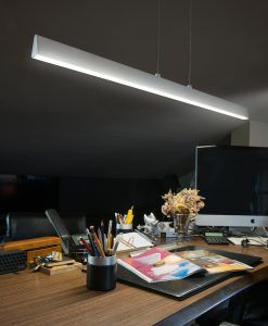 Colgante LED blanco CONIK ambiente