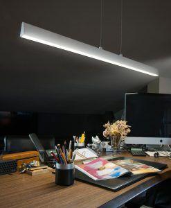 Colgante LED blanco CONIK ambiente