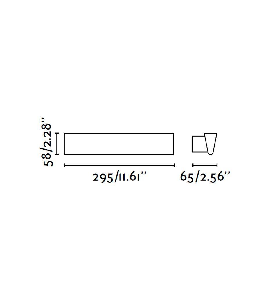 Lámpara aplique LED blanco CONIK medidas
