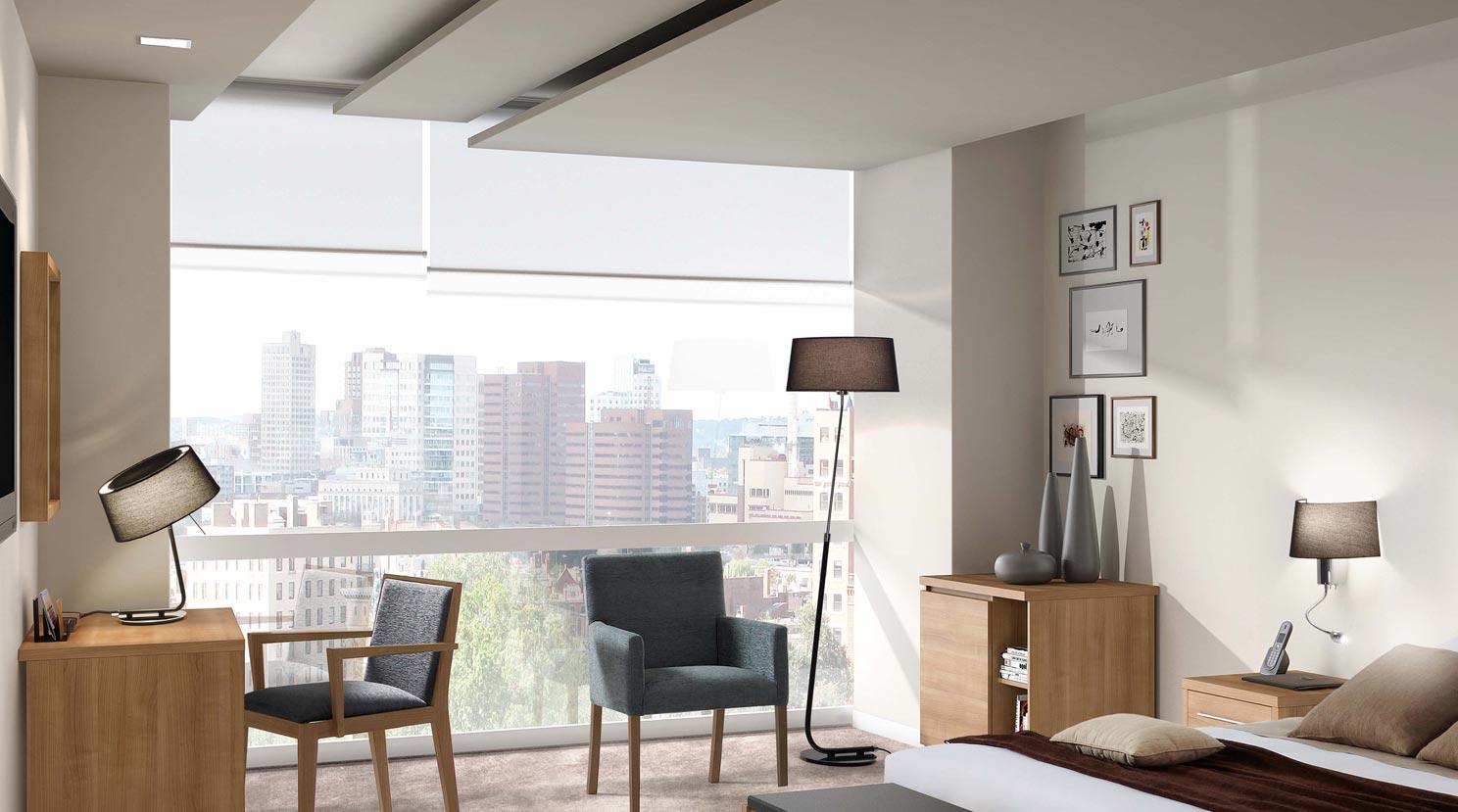 Lámpara aplique LED negra HOTEL ambiente