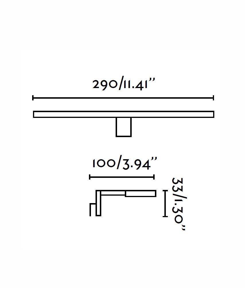Lámpara aplique LED TERMA cromo medidas