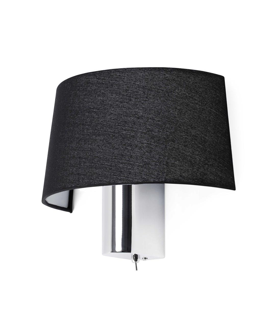 Lámpara aplique negra HOTEL