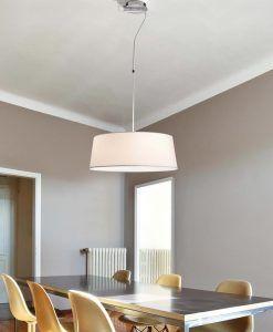 Lámpara colgante blanca HOTEL ambiente