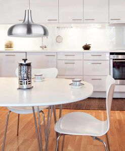 Lámpara colgante BONGO aluminio ambiente