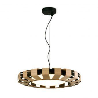 Lámpara colgante madera LED PAULINE