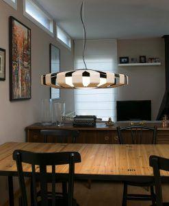 Lámpara colgante madera LED PAULINE ambiente