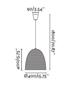 Lámpara colgante marrón LIANA medidas
