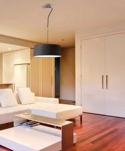 Lámpara colgante negra HOTEL ambiente