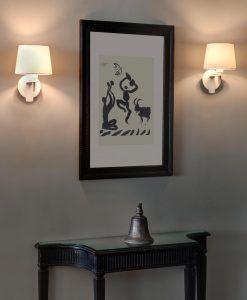Lámpara de pared FUSTA blanca ambiente