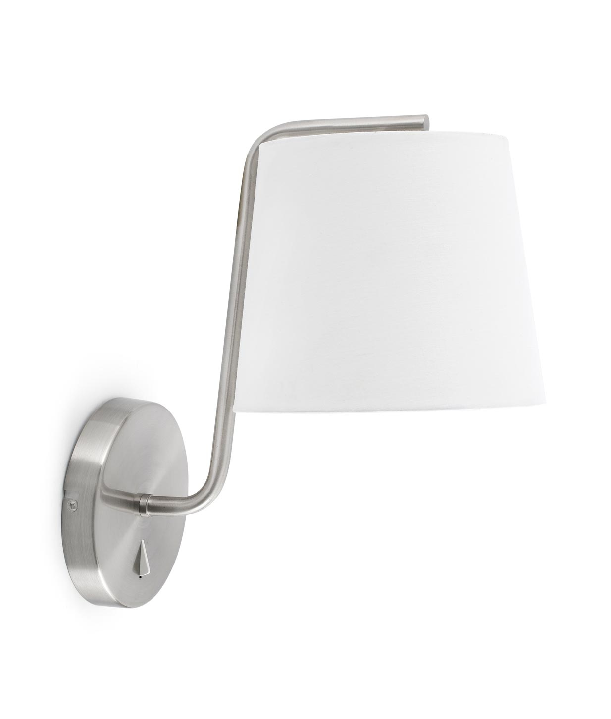 Lámpara de pared níquel BERNI detalle