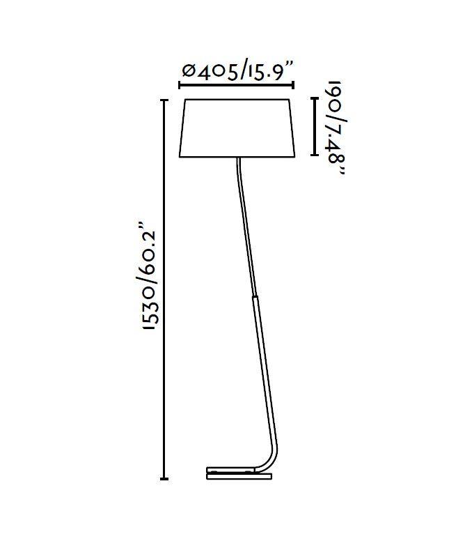 Lámpara de pie blanca HOTEL medidas