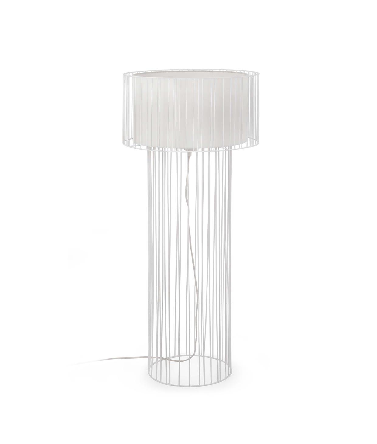 Lámpara de pie blanca LINDA