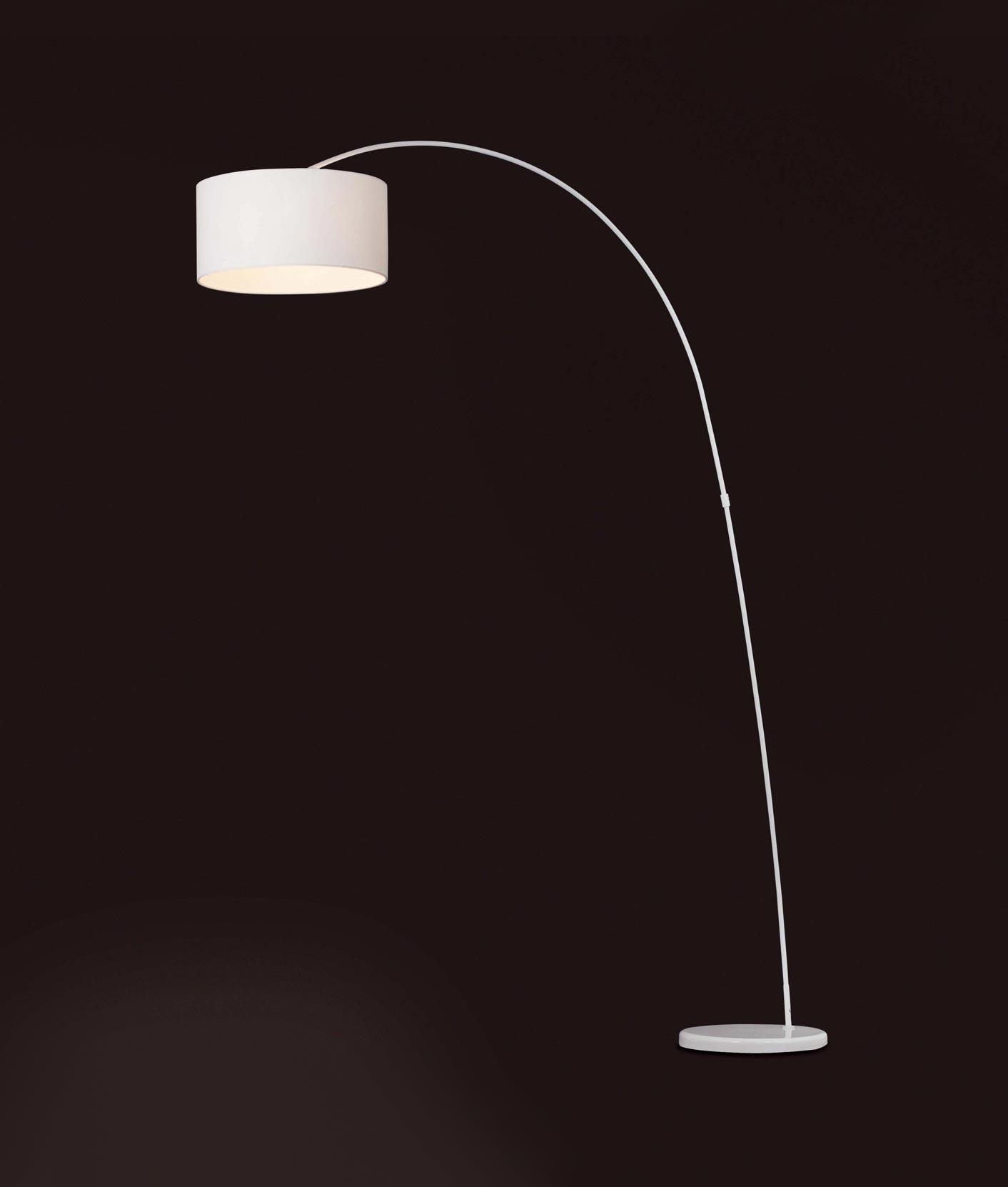 Lámpara de pie blanca PAPUA