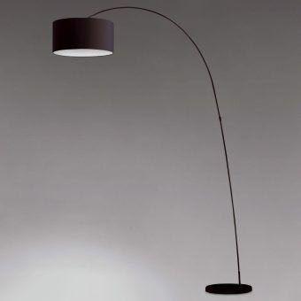 Lámpara de pie negra PAPUA