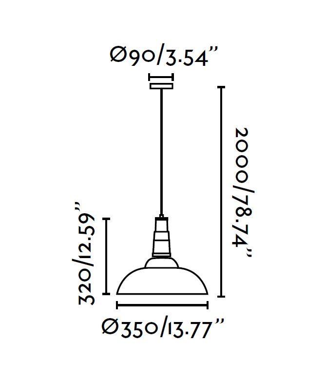 Lámpara de techo BAR blanca medidas