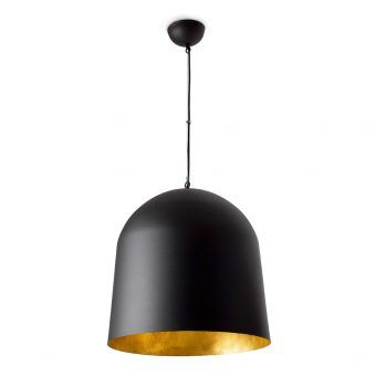 Lámpara de techo CRATER negra